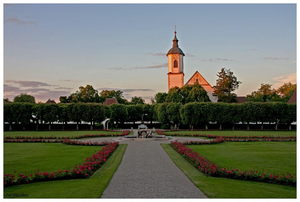 Abendstimmung auf Schloss Zeil