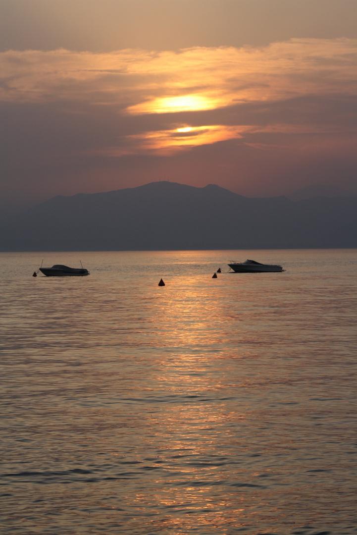 Abendstimmung Bardolino am Gardasee