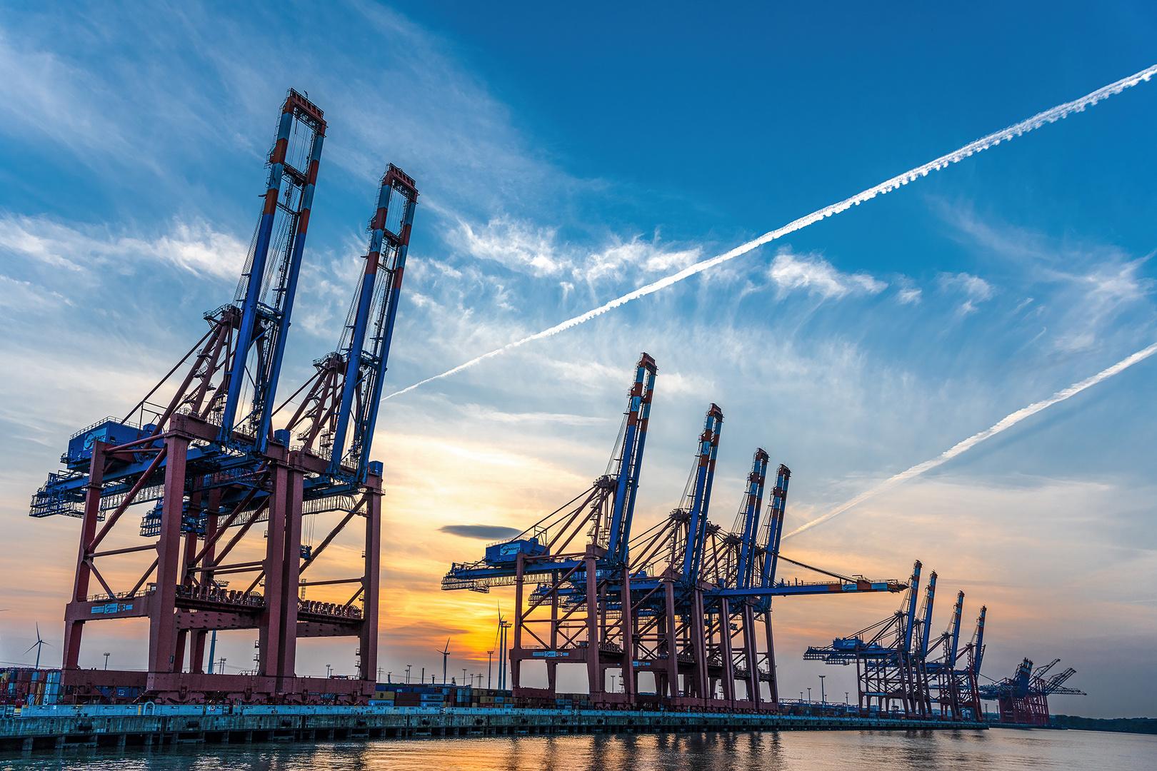 Abendstimmung Containerhafen Hamburg