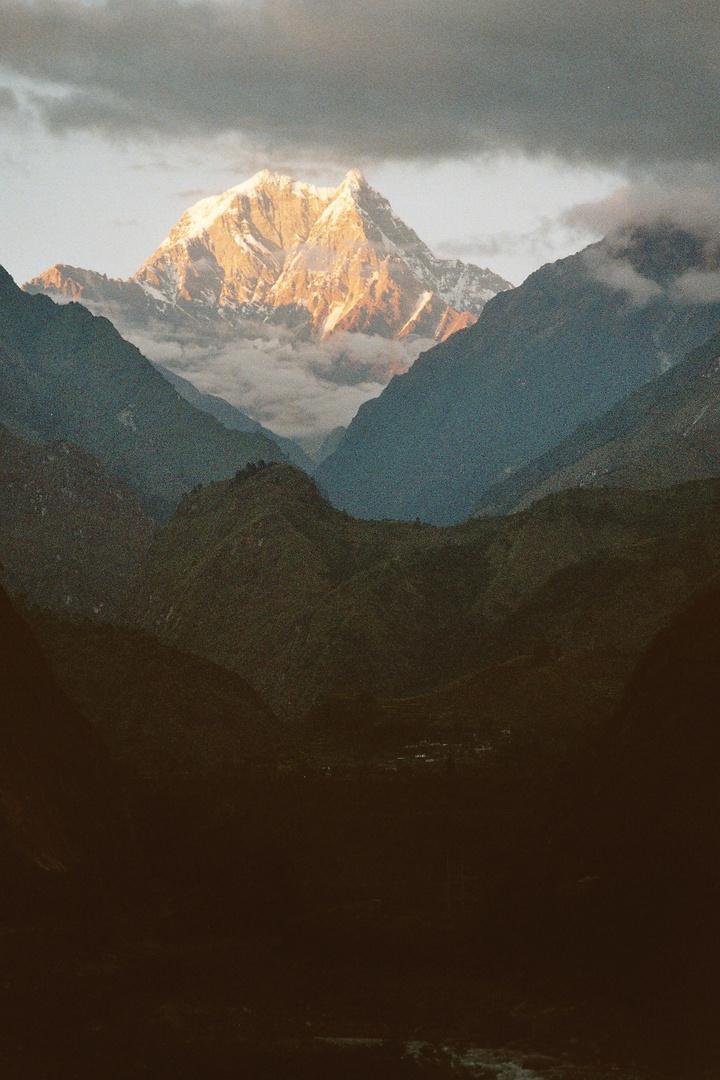 Abendstimmung im Kali Gandaki Tal