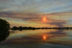 Abendstimmung im Okavango Delta