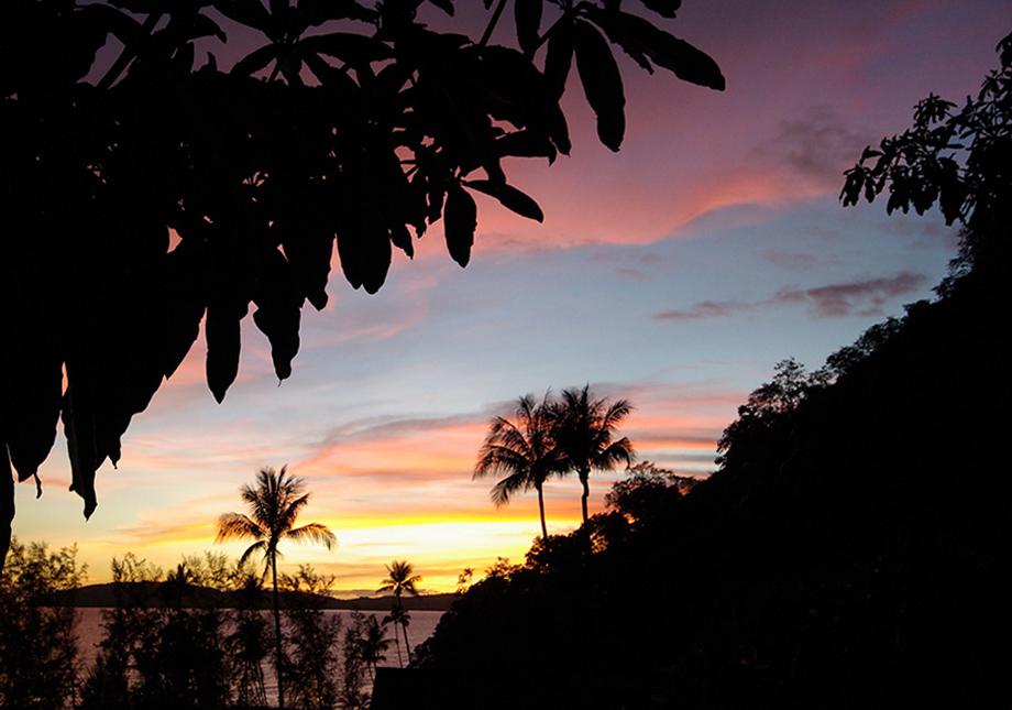 Abendstimmung in den Tropen
