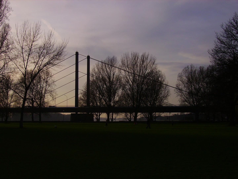 Abendstimmung in Düsseldorf am Rhein