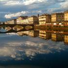 Abendstimmung in Florenz/Arno