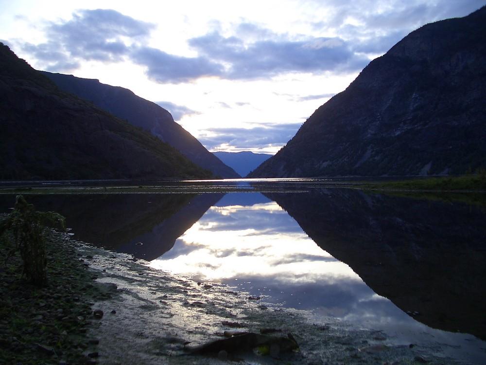 Abendstimmung in Laerdal, Norwegen