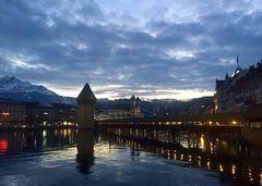 Abendstimmung in Luzern ...