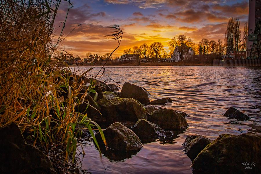 Abendstimmung in Nienburg an der Weser