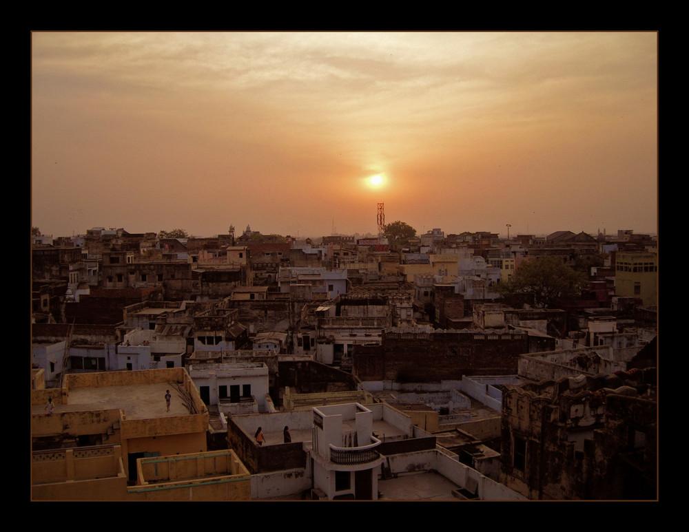 Abendstimmung in Varanasi