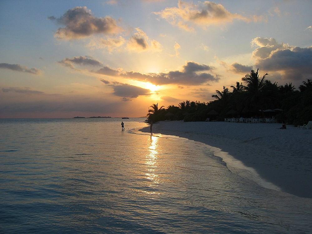 Abendstimmung Malediven