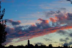 Abendstimmung mit Mond