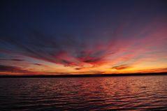 Abendstimmung mit Wolkenbild am Ammersee