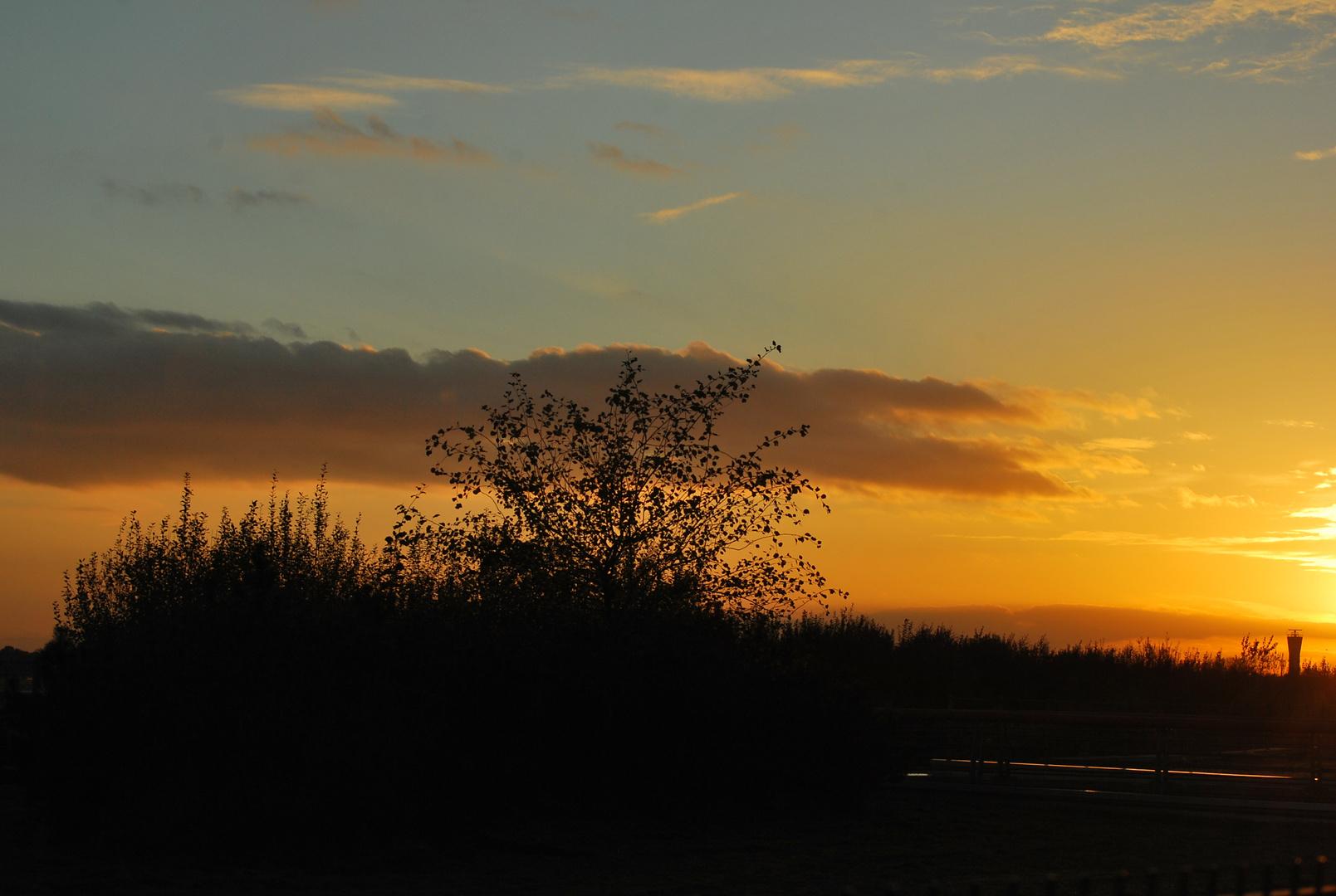 Abendstimmung Nähe Flughafen Fuhlsbüttel