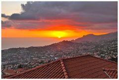 Abendstimmung über Funchal