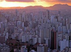Abendstimmung über Sao Paulo