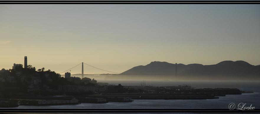 Abendstimmung vor San Francisco