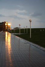 Abendstimmung zwischen Sonne und Regen