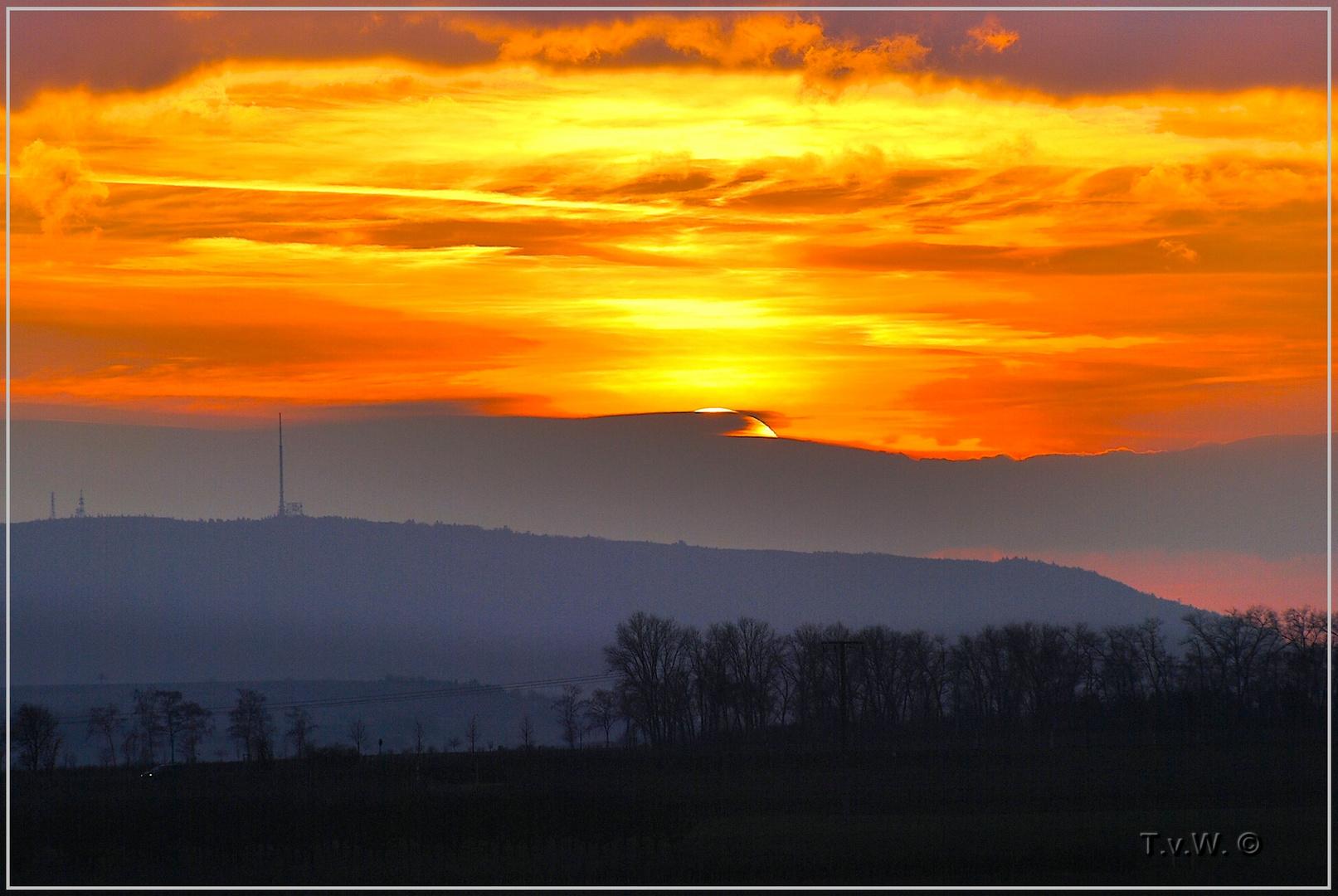 Abendstudie vom Sonnenuntergang