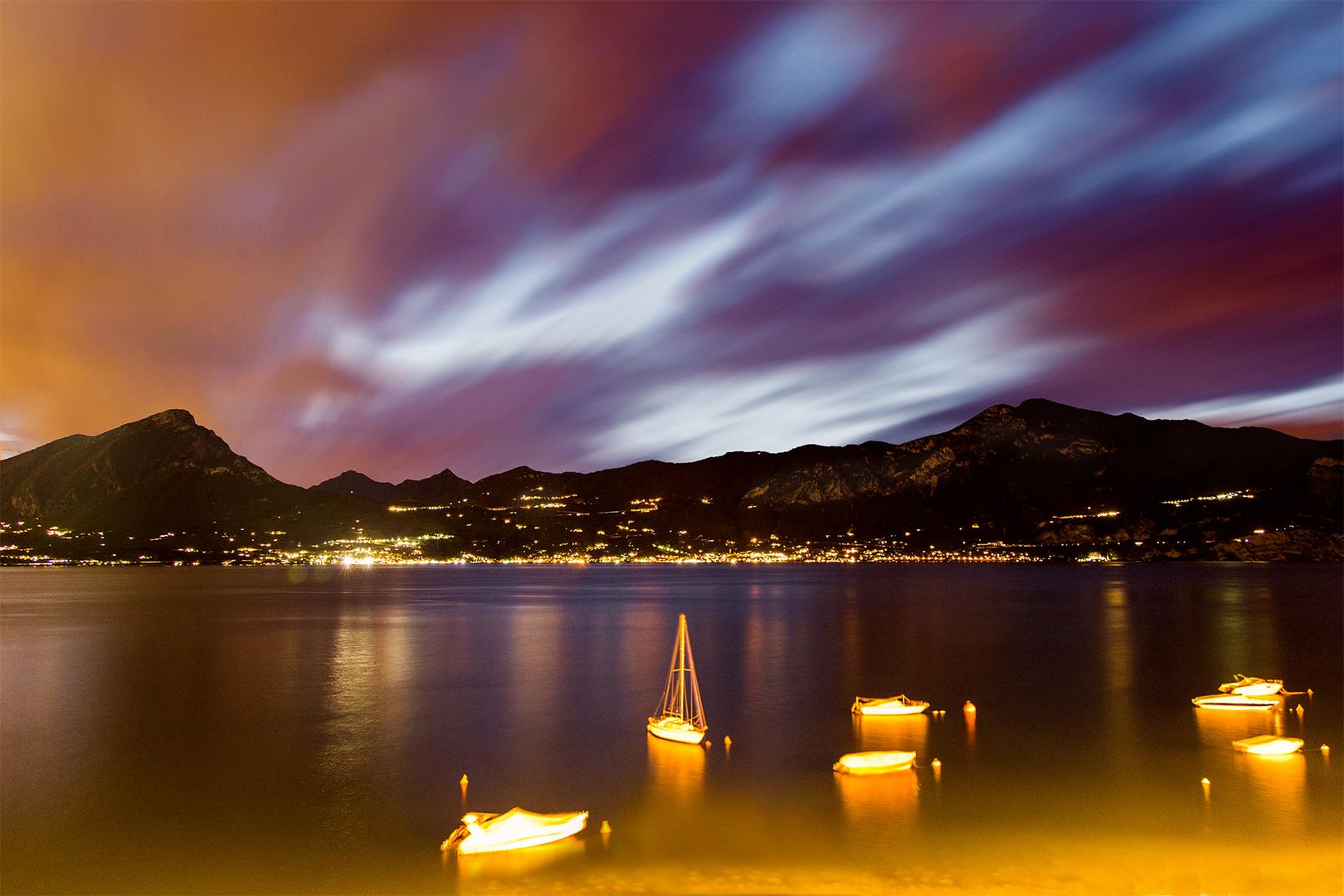 Abendsturm am Gardasee