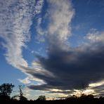 Abendwolkenformation