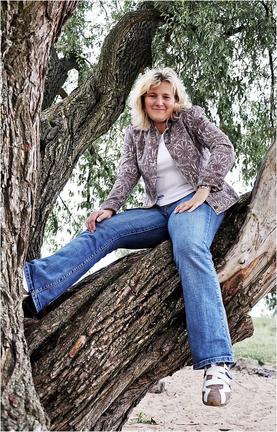 """""""Aber Gabi ... Eine Dame klettert doch nicht auf Bäume! ..."""""""
