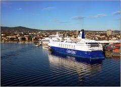 ... Abfahrt in Oslo ...