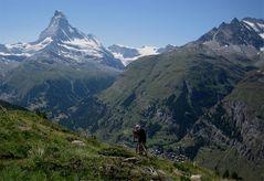 Abfahrt mit dem MTB nach Zermatt