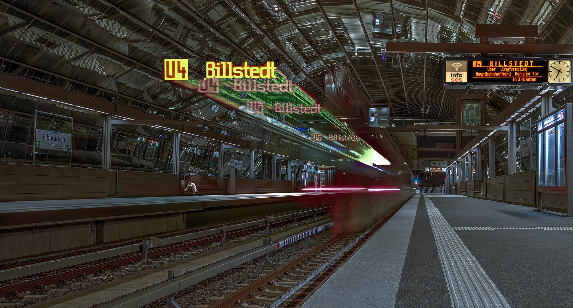 Abfahrt U 4 Billstedt