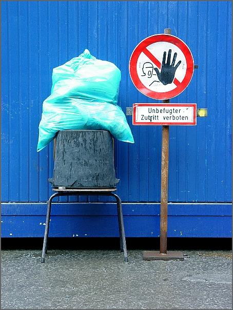 Abfall (Zutritt verboten)