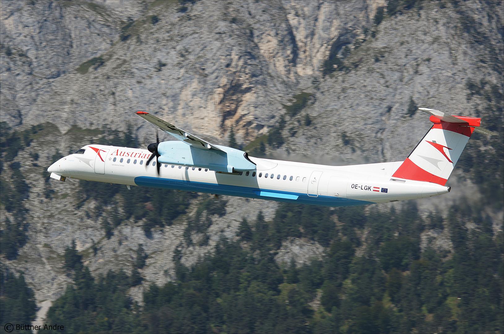 Abflug von Innsbruck