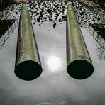 Abfluss eines Beckens in den Rieselfeldern