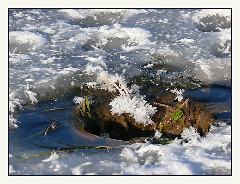 Abgrund im Eis