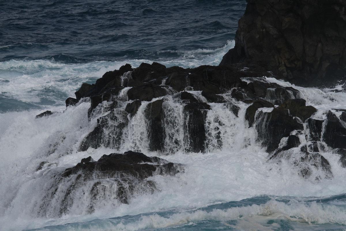 ablaufende Welle.