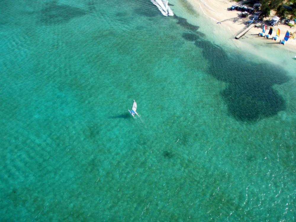 above coral sea