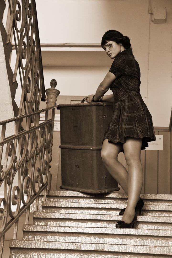 Abschied im Treppenhaus