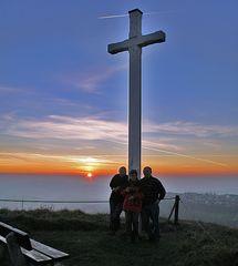 Abschied von den Freunden in Gosheim (Schwäbische Alp)