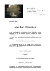 ... Abschied von Karl H. ...