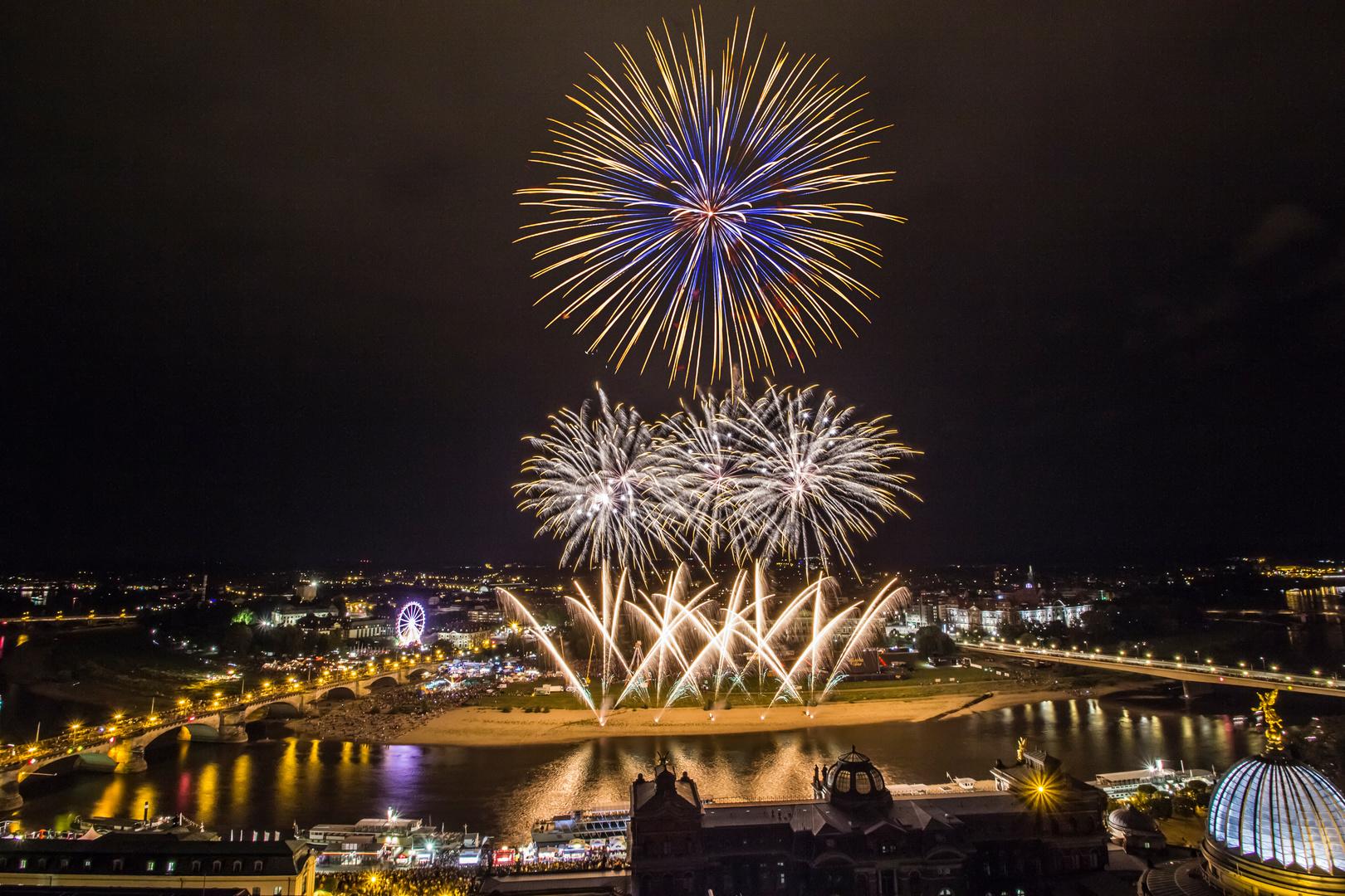 Abschlussfeuerwerk Stadtfest Dresden 2014