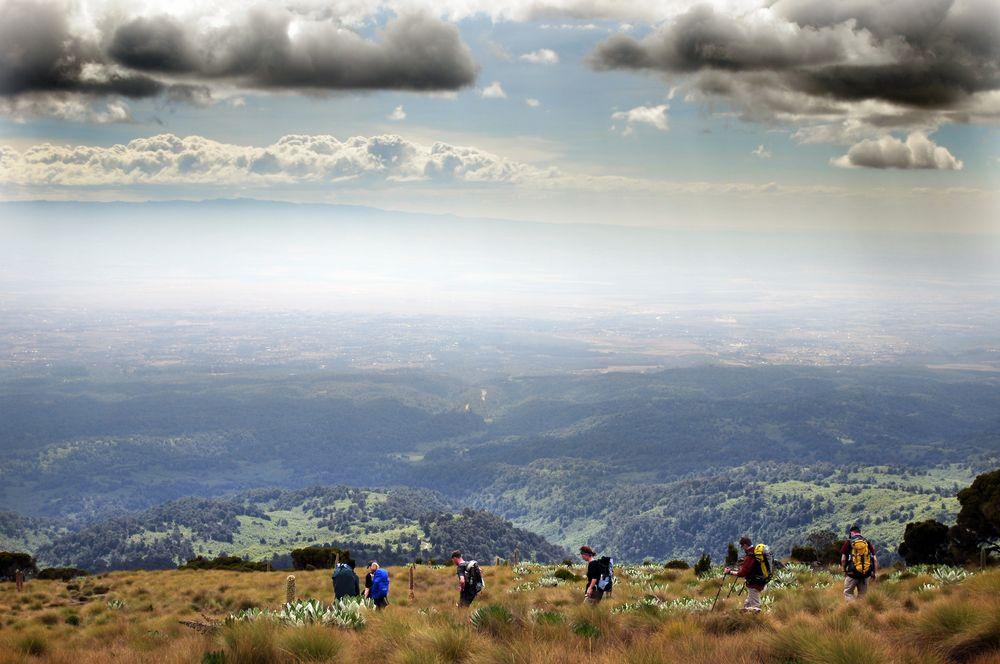 Abstieg Mount Kenia