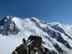 Abstieg vom Mont Blanc