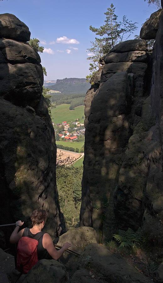 Abstieg vom Pfaffenstein