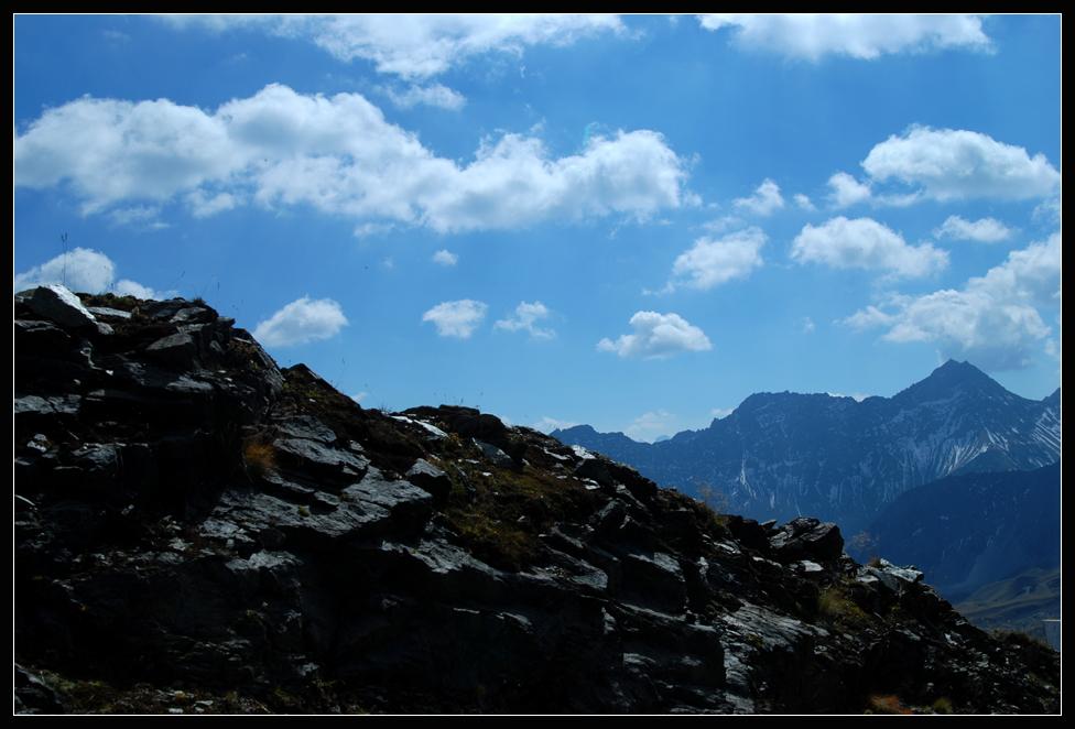 abstieg vom weisshorn (ch)