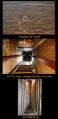 Abstieg zur Grabkammer