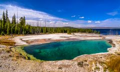 Abyss Pool, West Thumb Geyser Basin, Wyoming, USA