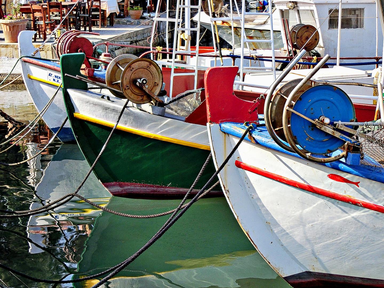Accastillage au port de Kissamos