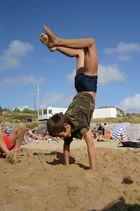 accrobatte de la plage