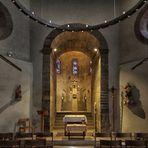 Achatiuskapelle, Blick ins Innere des Doppeloktogons