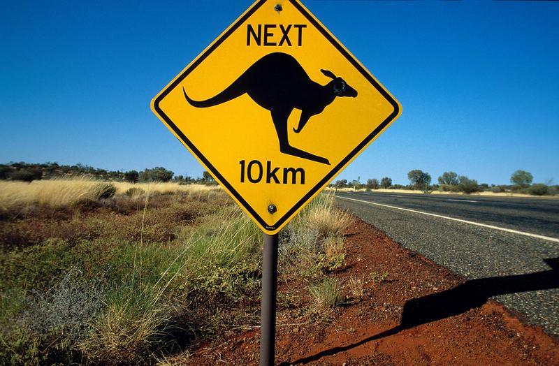 Australien Kangaroo Schild