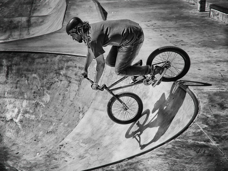 Acrobatics with bicycle