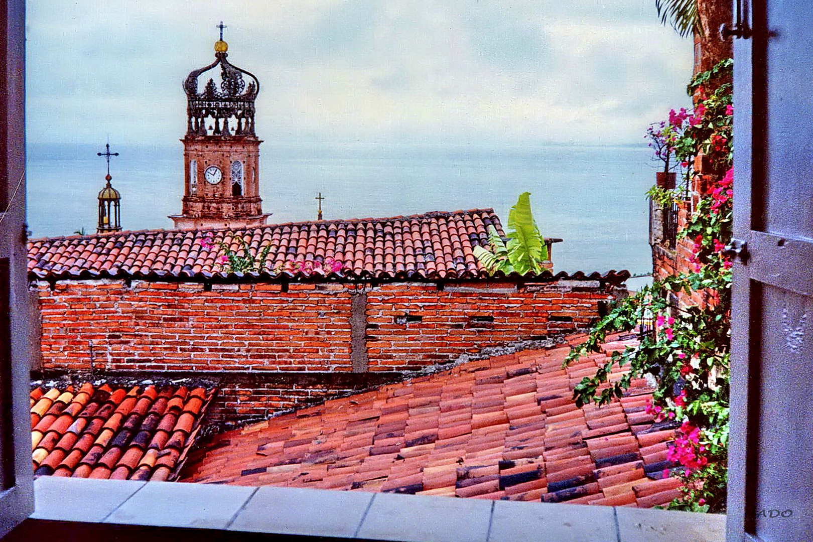 Across the Red Tiled Roofs