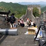 Action auf der Chinesischen Mauer